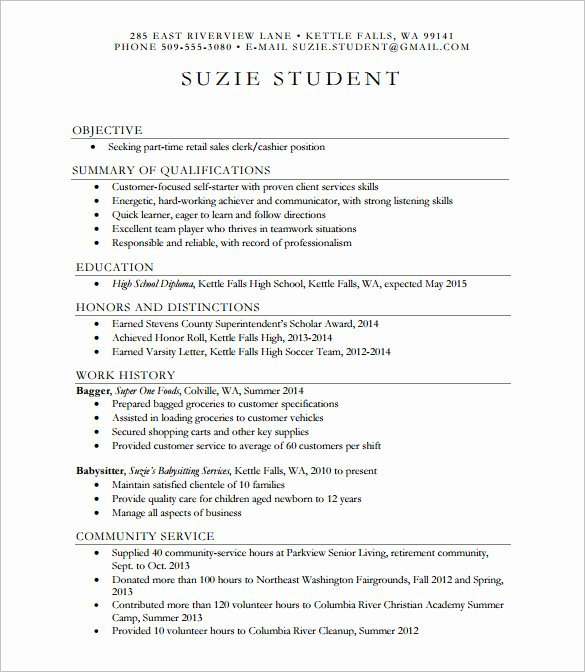 High School Graduate Resume Template Luxury 24 Best Student Sample Resume Templates Wisestep