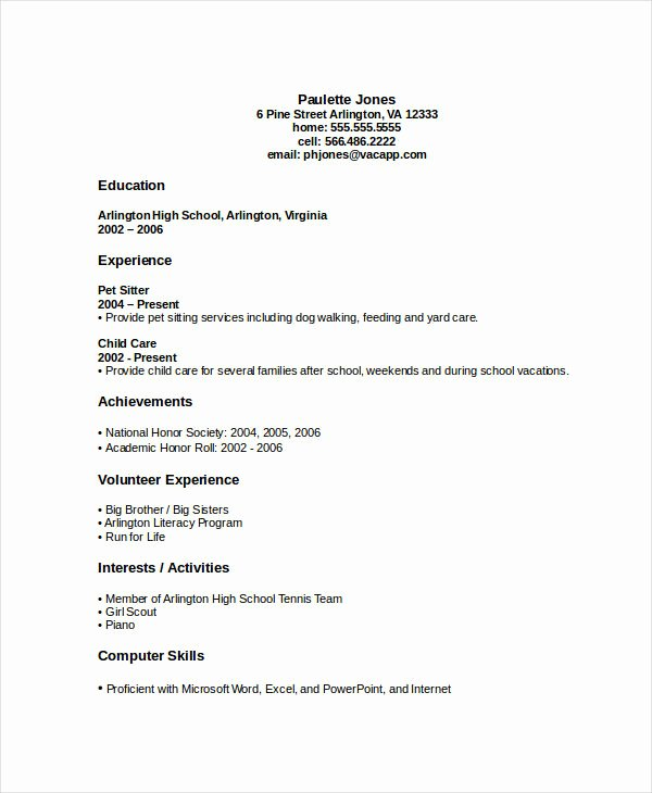 High School Graduate Resume Template Luxury 45 Download Resume Templates Pdf Doc