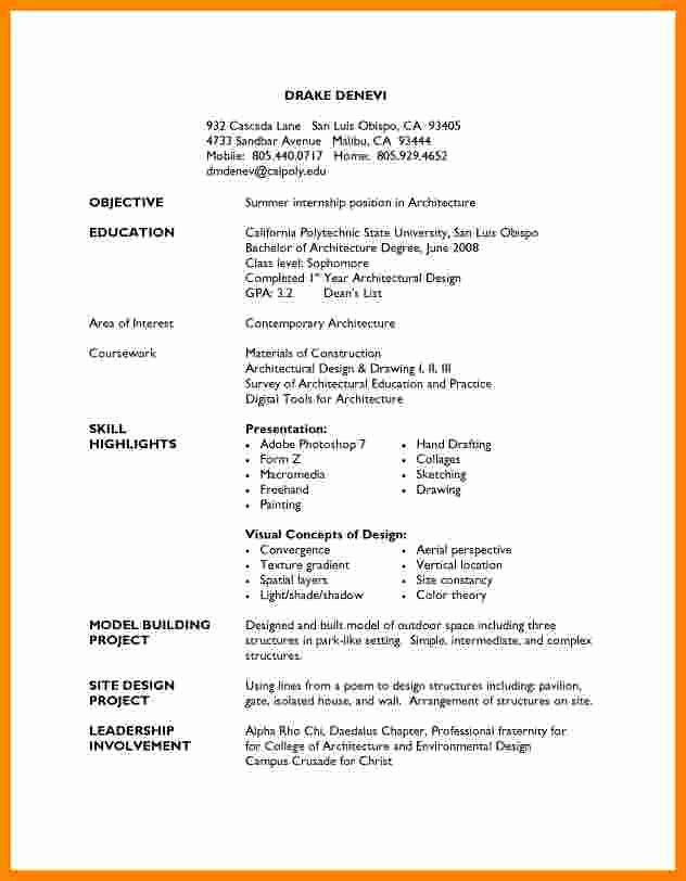 High School Resume Template Word Beautiful 5 Cv Template for High School Students