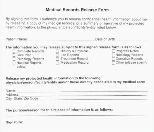 Hipaa Release form Template Inspirational Best 44 Eloquent Printable Hipaa Release form