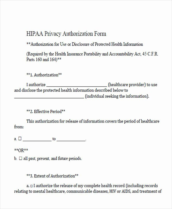 Hipaa Release form Template Inspirational Medical forms In Pdf
