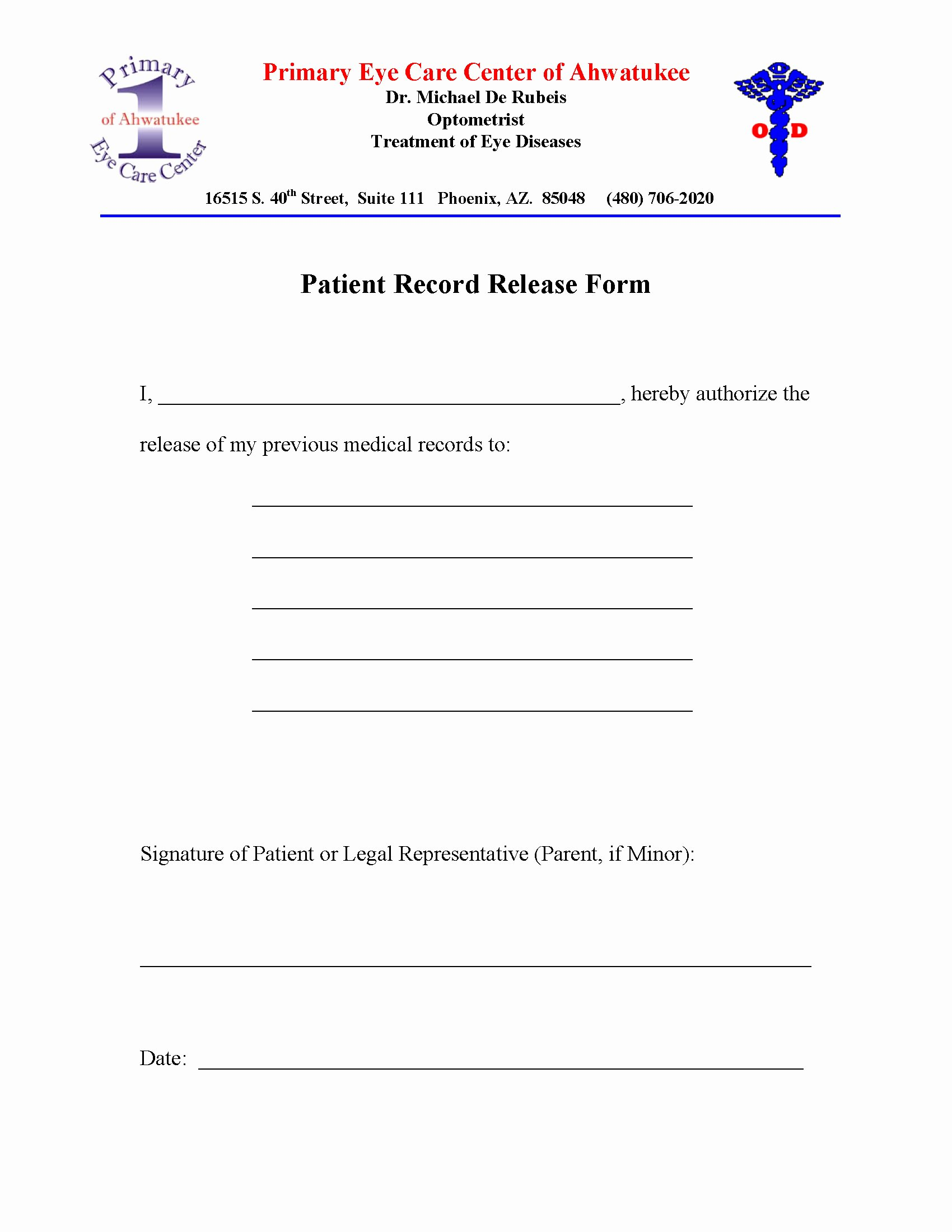 Hipaa Release form Template Unique Medical Records Release Letter Template Samples