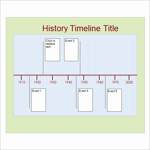 History Timeline Template Word Inspirational Free 6 Sample Timelines In Word Pdf Ppt