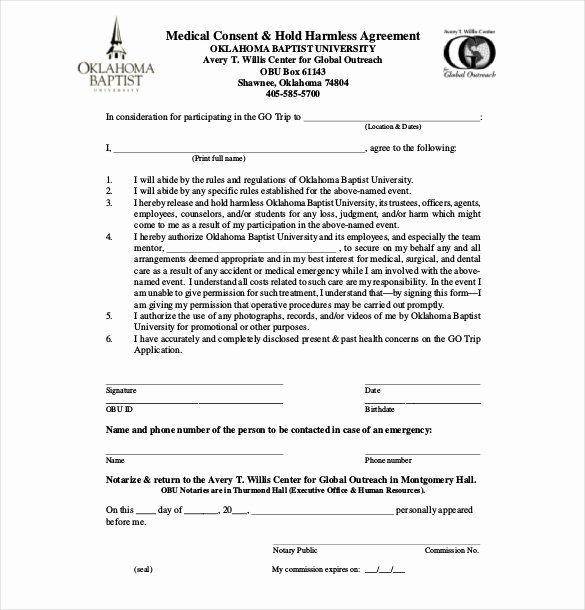 Hold Harmless Agreement Template Free Beautiful Hold Harmless Agreement Template Free Download