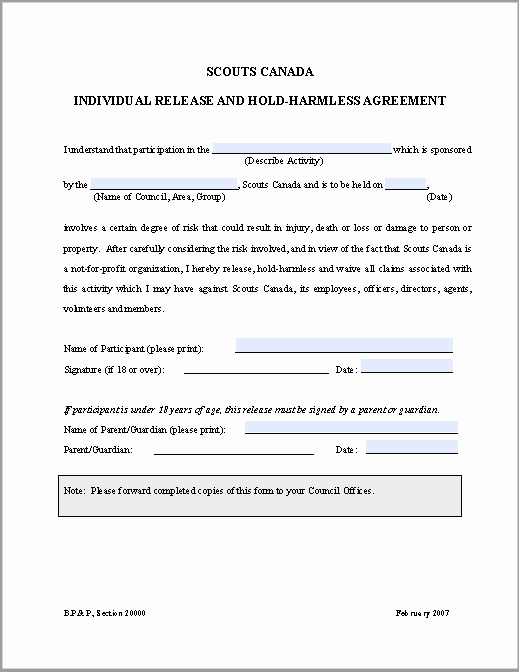 Hold Harmless Agreement Template Free Luxury 43 Free Hold Harmless Agreement Templates Ms Word and Pdfs
