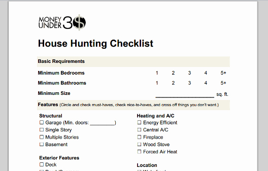 Home Buyer Checklist Template Unique Home Buying Checklist