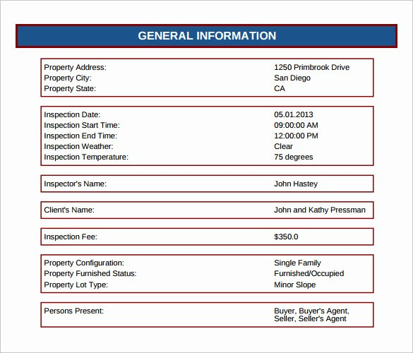 Home Inspection Report Template Pdf Awesome 12 Sample Home Inspection Reports Docs Word Pages