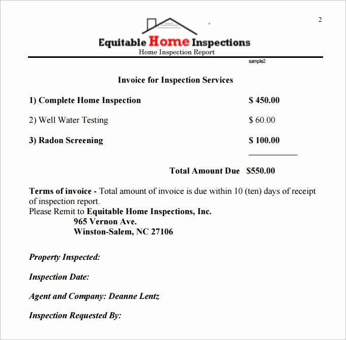 Home Inspection Report Template Pdf Elegant 10 Sample Home Inspection Report Templates Word Docs