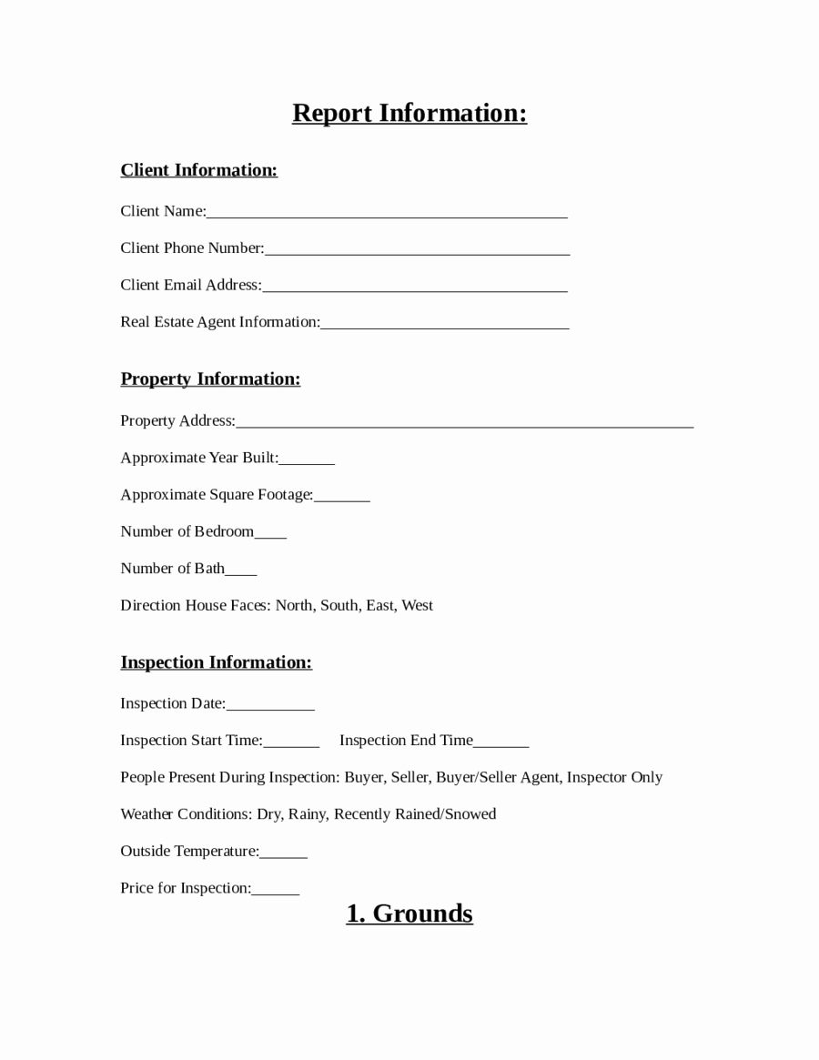 Home Inspection Report Template Pdf Luxury Home Inspection Report form Pdf Edit Fill Sign Line
