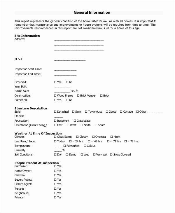 Home Inspection Report Template Pdf New Home Inspection Templates Free Blogsboomer