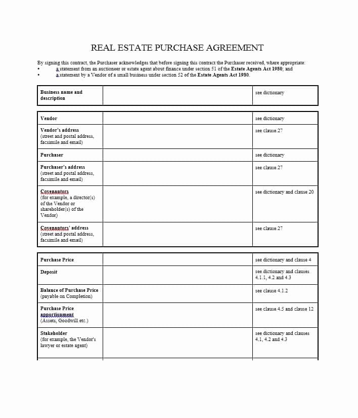 Home Purchase Agreement Template New 37 Simple Purchase Agreement Templates [real Estate Business]