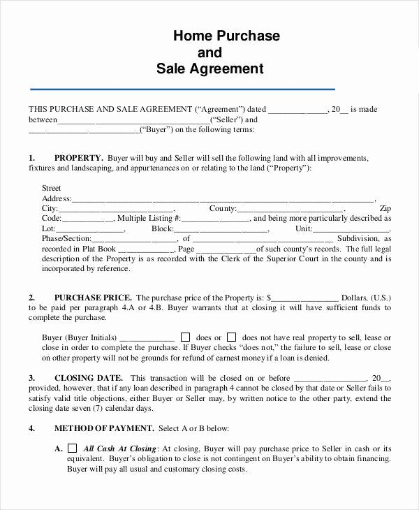 Home Purchase Contract Template Beautiful 8 Home Sales Contracts Samples & Templates In Pdf Google