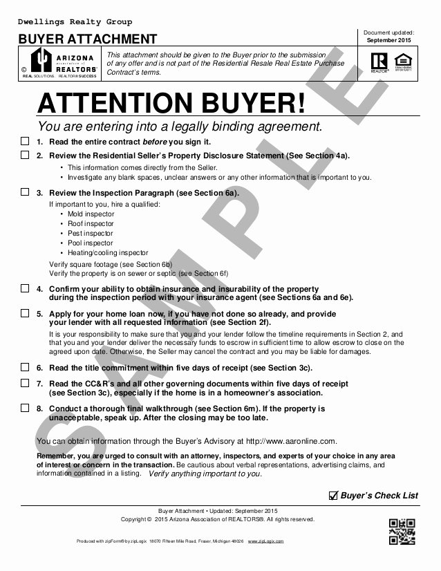 Home Purchase Contract Template Elegant Blank Arizona Real Estate Purchase Contract Residential