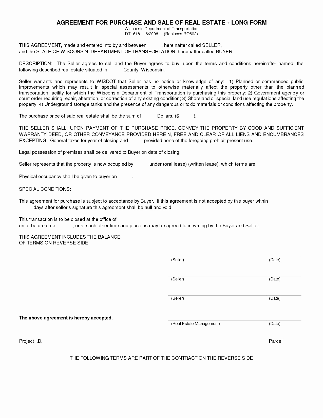 Home Purchase Contract Template Elegant Simple Land Purchase Agreement form