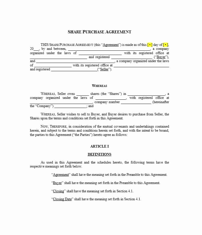 Home Purchase Contract Template Fresh 37 Simple Purchase Agreement Templates [real Estate Business]