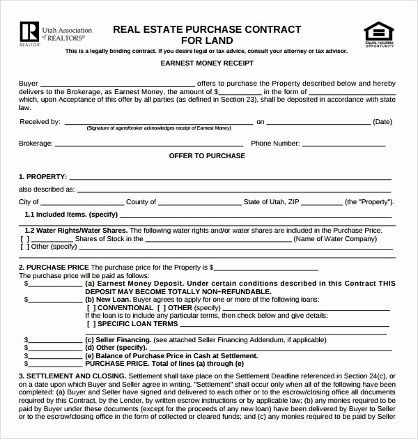 Home Purchase Contract Template Fresh Free 14 Sample Real Estate Purchase Agreement Templates