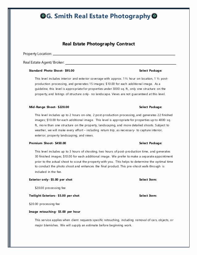Home Purchase Contract Template New Real State Contract