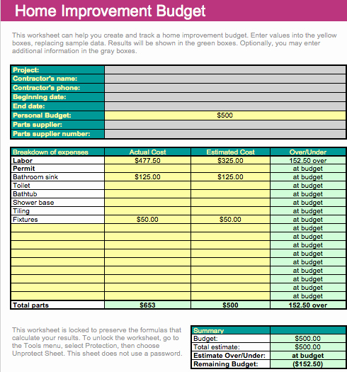 Home Repair Estimate Template Inspirational Home Improvement Bud Template for Numbers Free Iwork