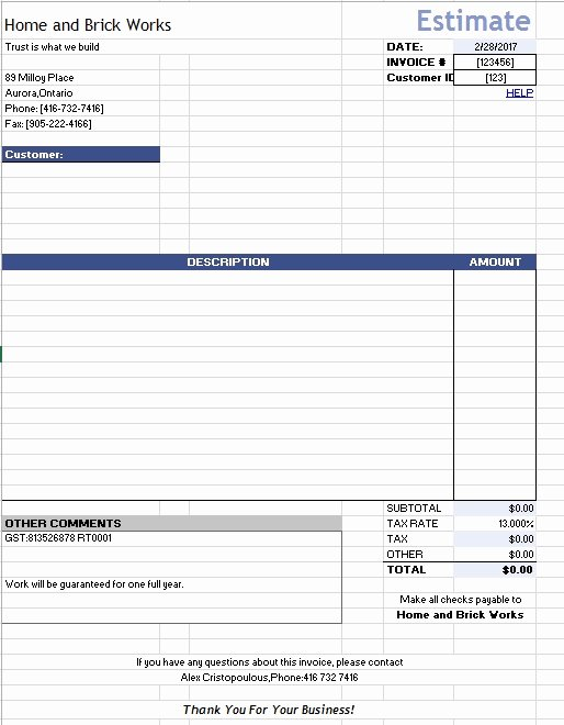 Home Repair Estimate Template Unique 12 Free Sample Home Repair Estimate Templates Printable