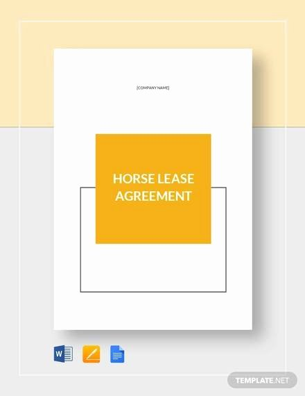 Horse Lease Agreement Template New Sample Horse Lease Agreement 7 Free Documents In Word