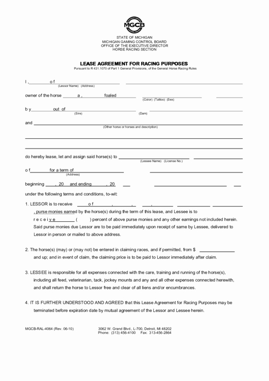 Horse Lease Agreement Templates Fresh top 18 Horse Lease Agreement Templates Free to In