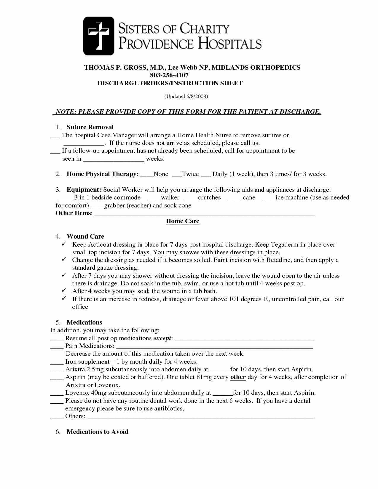 Hospital Discharge form Template New Best S Of Hospital Discharge Papers Printable Pdf