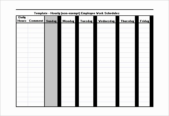 Hourly Schedule Template Word Beautiful Employee Work Schedule Template 17 Free Word Excel