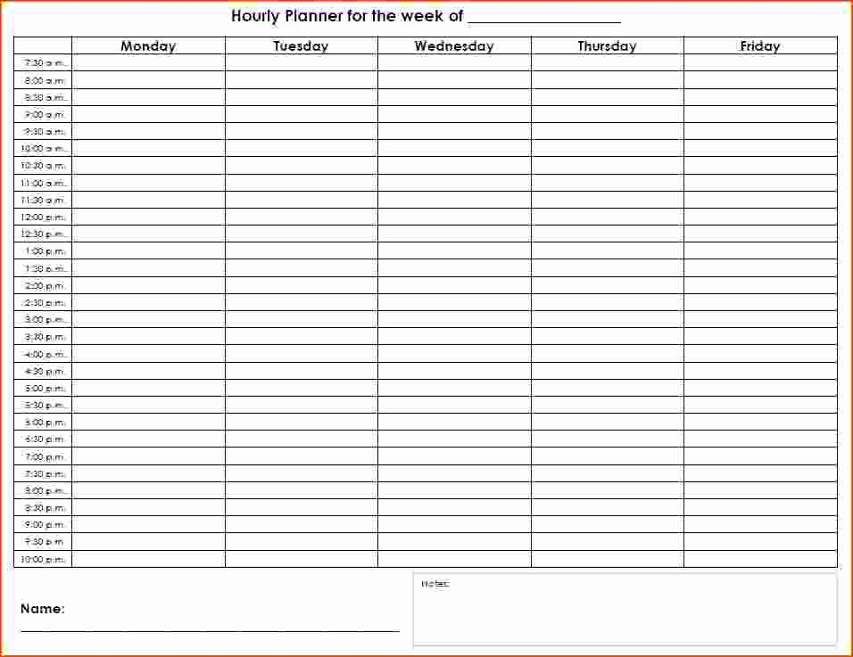 Hourly Schedule Template Word New 6 Hourly Planners Bookletemplate