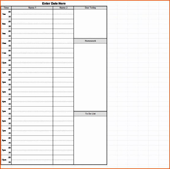 Hourly Schedule Template Word Unique 3 Hourly Schedule Template Bookletemplate