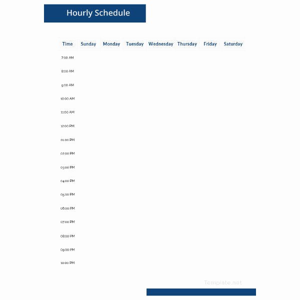 Hourly Schedule Template Word Unique Hourly Schedule Template 35 Free Word Excel Pdf