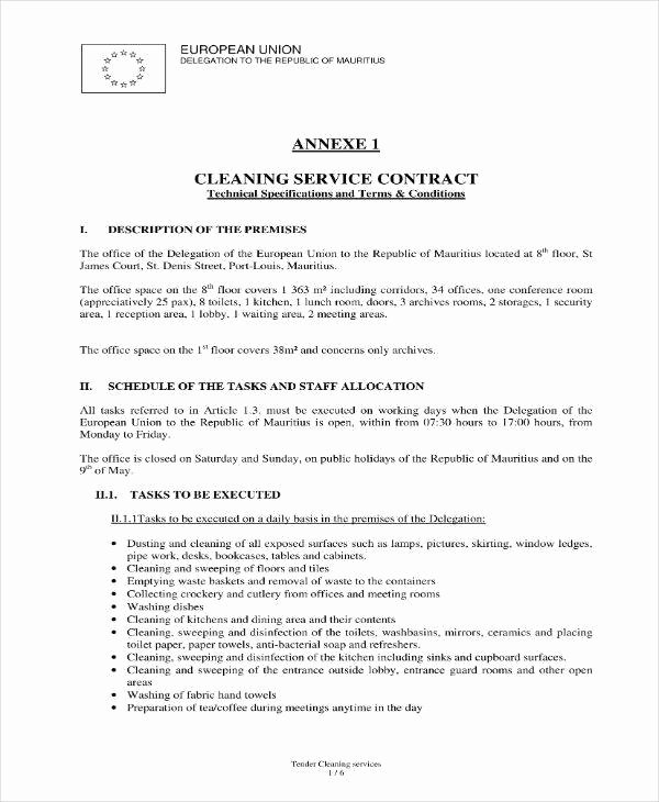 House Cleaning Contract Template Unique 17 Cleaning Services Contract Templates Pages Docs