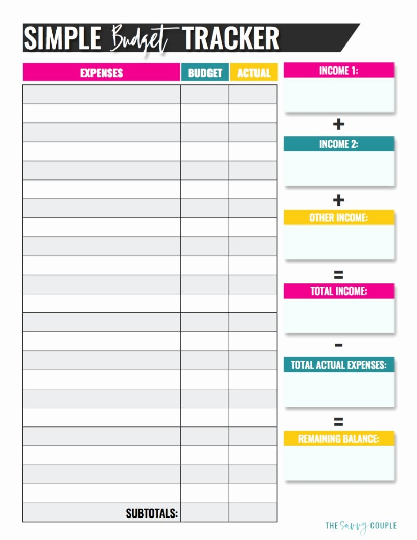 Household Budget Template Printable Best Of 10 Bud Templates that Will Help You Stop Stressing