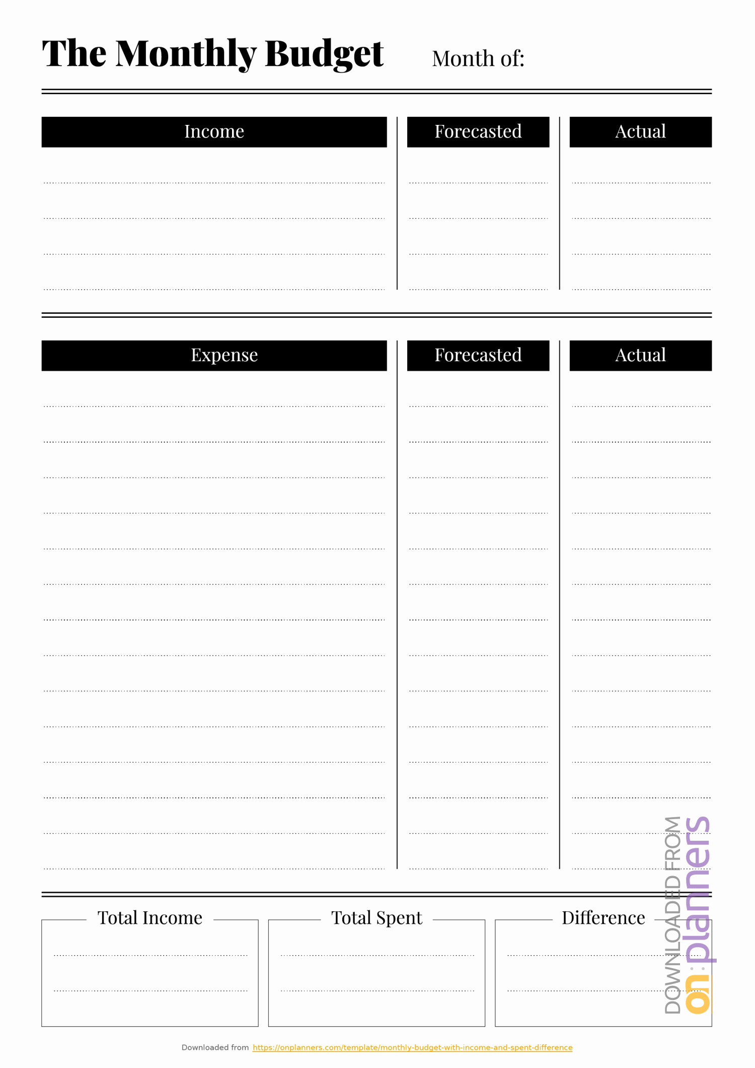Household Budget Template Printable Best Of Free Printable Bud Templates Download Pdf A4 A5