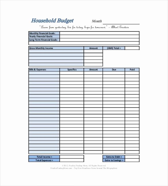 Household Budget Template Printable Elegant Best 25 Household Bud Template Ideas On Pinterest