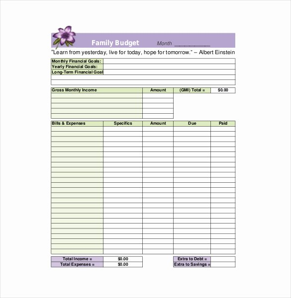 Household Budget Template Printable Fresh Household Bud Template
