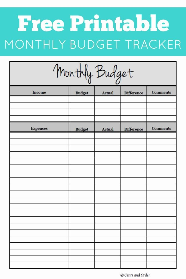 Household Budget Template Printable Lovely Free Monthly Bud Printable