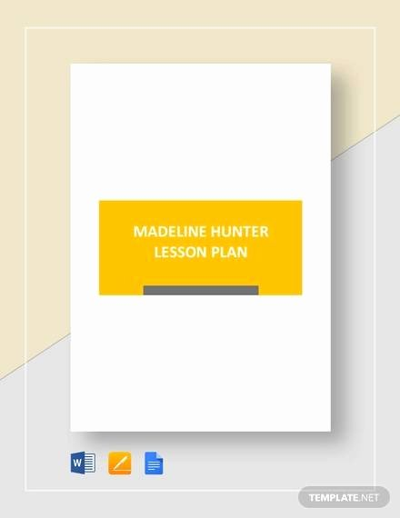 Hunter Lesson Plan Template Beautiful Sample Madeline Hunter Lesson Plan – 11 Documents In Pdf
