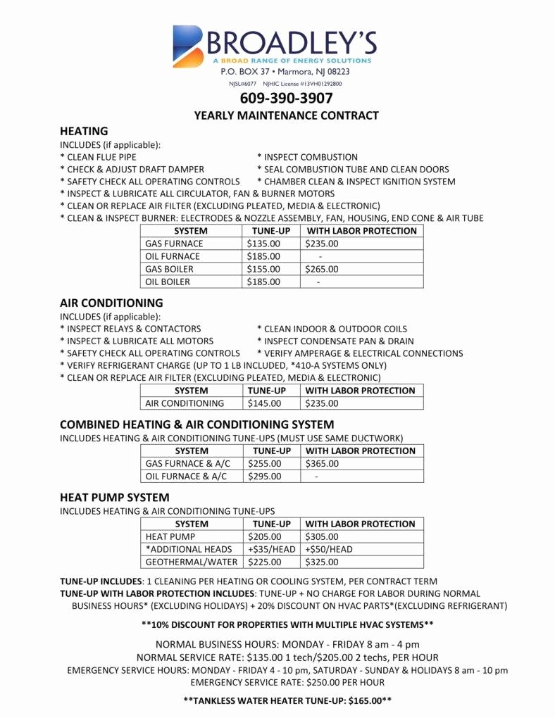 Hvac Maintenance Contract Template Awesome 8 Hvac Contract Templates for Services Pdf Word