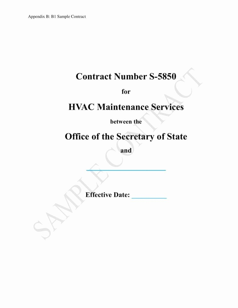Hvac Maintenance Contract Template Beautiful 8 Hvac Contract Templates for Services Pdf Word