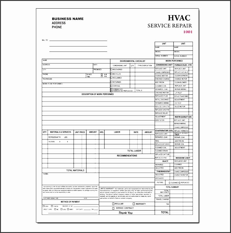Hvac Service order Invoice Template Awesome 9 Contractor Invoice Template In Editable form