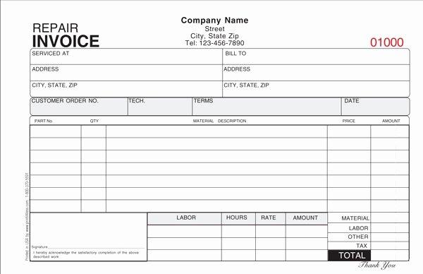 Hvac Service order Invoice Template New Air Conditioning Repair Invoice Template 12 Advice that