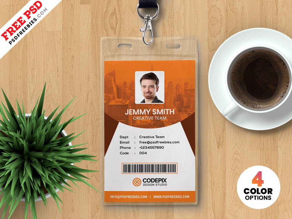 Id Badge Template Photoshop Awesome Vertical Identity Card Templates Psd