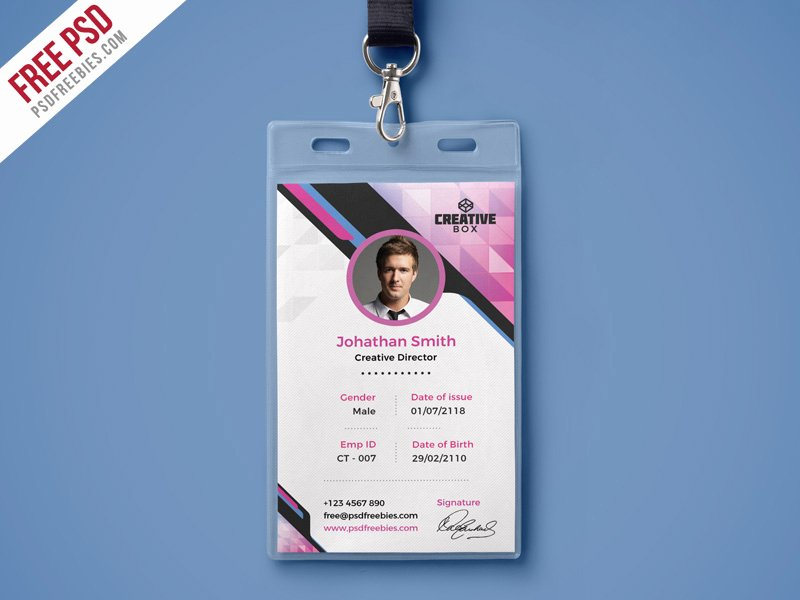 Id Badge Template Photoshop Best Of Pany Identity Card Psd Template