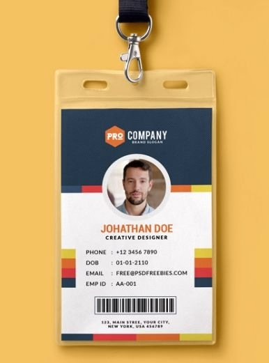 Id Badge Template Photoshop Elegant 10 Free Employee Id Card Design [templates & Mockups