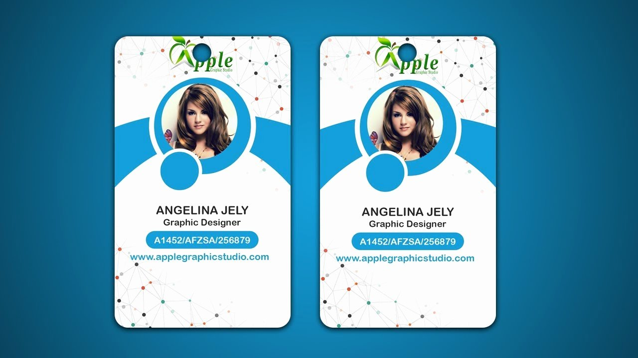Id Badge Template Photoshop Elegant Design Id Cards & Id Badge Adobe Shop Tutorial