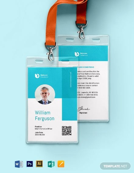 Id Badge Template Photoshop Fresh Badge Id Card Template Download 329 Id Cards In Adobe