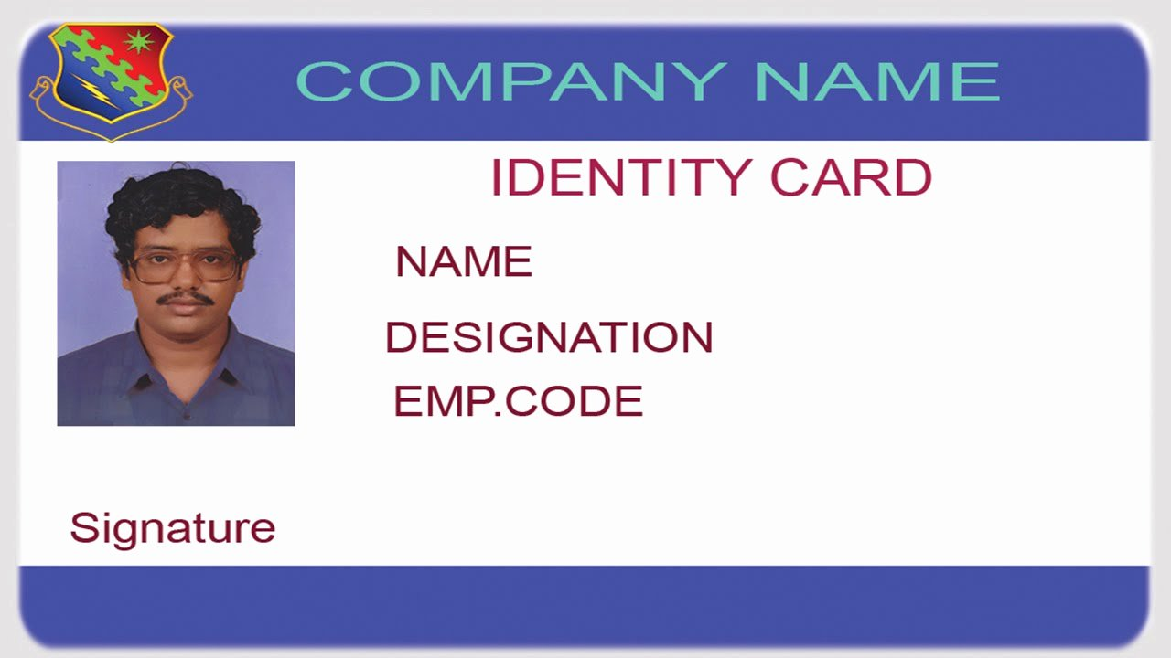 Id Badge Template Photoshop Fresh How to Design An Id Card Using Shop with English