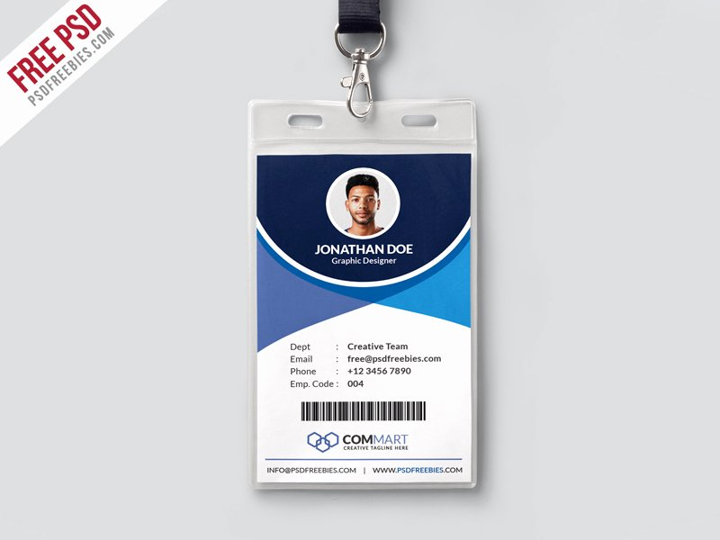 Id Badge Template Photoshop Inspirational Corporate Fice Identity Card by Psd Freebies Epicpxls