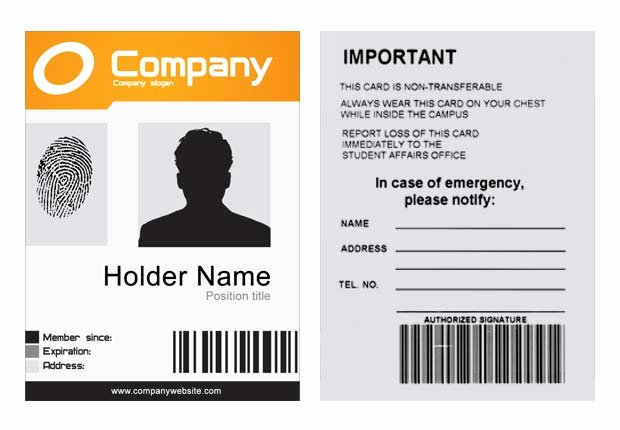Id Badge Template Photoshop Inspirational Pany Id Template Psd Xonekdesign