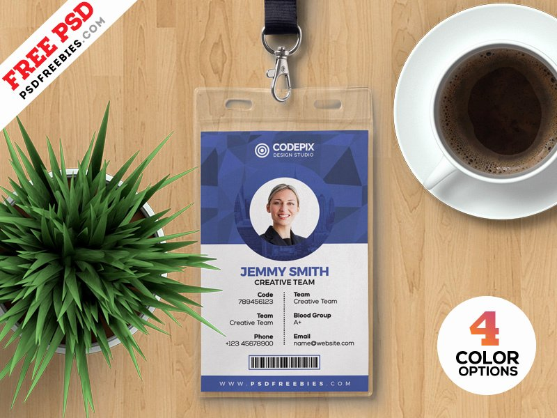 Id Badge Template Photoshop Inspirational Psd Fice Identity Card Templates by Psd Freebies